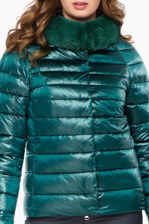 куртка зеленая женская короткая